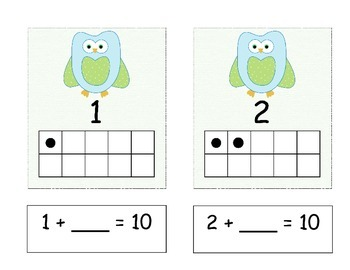 Owl Ten Frame Addition - Common Core Alligned