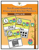 Owl Ten Frame Counting Anchor Posters 1 to 20