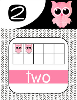 Owl Ten Frame Number Posters