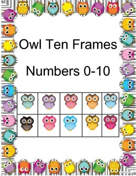 Owl Ten Frame Posters
