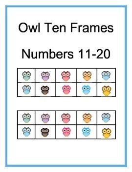 Owl Ten Frame Posters