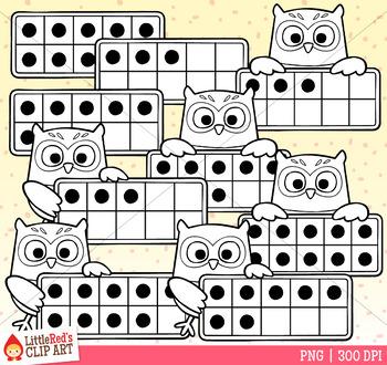 Owl Ten Frames Clip Art