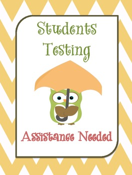 Owl Testing Signs Freebie