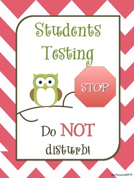 Owl Testing Signs Freebie