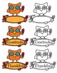 Owl Thanksgiving Clipart
