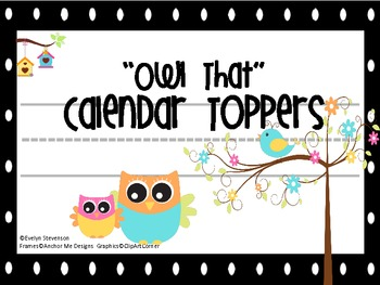 Owl That Calendar Toppers