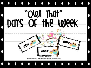 Owl That Days of the Week
