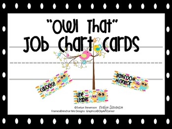Owl That Job Chart Cards