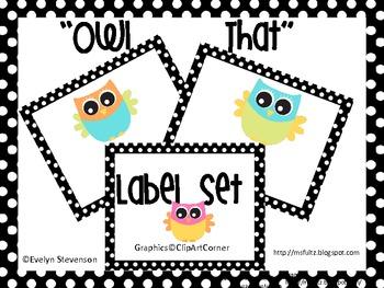 Owl That Editable Label Set