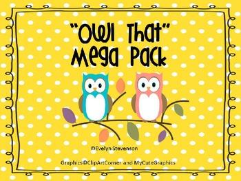 Owl That Editable Mega Pack