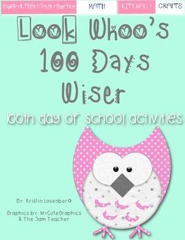 Owl Theme 100 Days of School Bundle