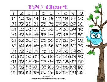 Owl Theme 100 and 120 Chart ~ Common Core Math