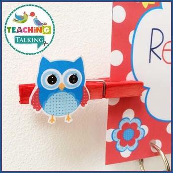 Owl Themed Classroom Decor (Editable)