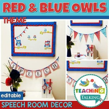 Speech Therapy Decor - Owl Themed Classroom Decor (Editable)