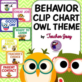 Owl Theme Behavior Chart