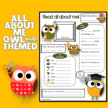 All About Me Owl Theme