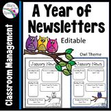#ChristmasinJuly Newsletter Template Editable Owl Theme