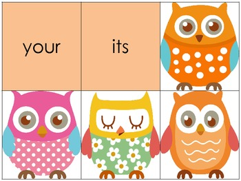 Owl Theme 220 Dolch Word Sight Word Game {Perfect for Intervention}