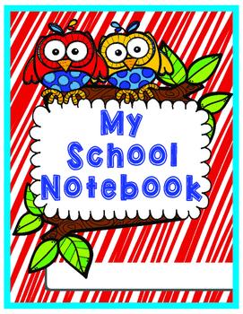 My School Notebook Teachers Planner Owl Theme