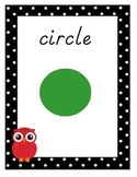 Owl Theme 2D & 3D Shape Posters With Polka Dot Border