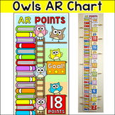 Owl Theme Accelerated Reader Chart (AR) - Editable Clip Chart