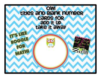 Owl Theme Add it Up