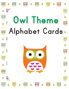 Owl Theme Alphabet Cards
