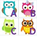 Owl Theme Alphabet Letters