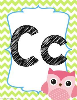 Owl Theme {Alphabet Line}