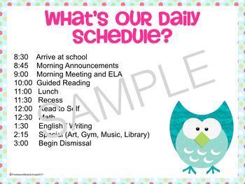 Owl Theme Back To School Powerpoint For Open House and Meet The Teacher