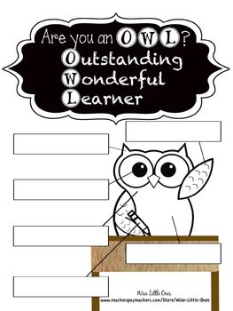 Owl Theme ~ Back To School Survival Kit of Activities