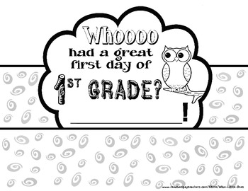 Owl Theme ~ Back to School First Day Hat ~ K-2 ~ Send them home Lookin' Cute!