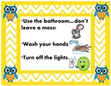 Owl Theme Bathroom Procedures