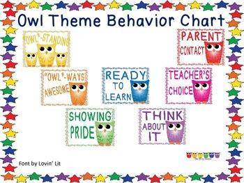Behavior Chart - Owls