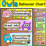 Behavior Chart - Owl Theme Classroom Decor Behavior Clip Chart