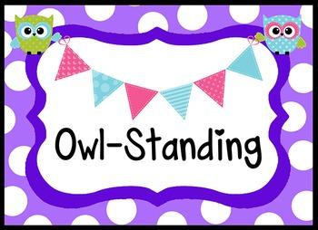 Owl Theme Behavior Clip Chart