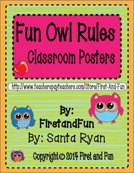 Owl Theme Behavior Fun Posters Pack