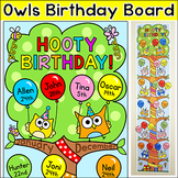 Owl Theme Birthday Board - Editable Classroom Decor
