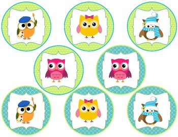Owl Theme {Buddy Buttons}