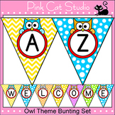 Owl Theme Bunting Banner