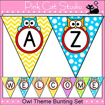 Owl Theme Bunting Banner