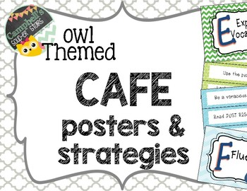 Owl Theme {CAFE Posters and Strategies}