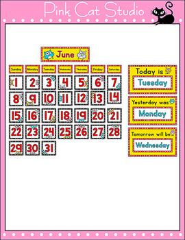 Classroom Calendar - Owl Theme