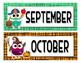 Basic Calendar Set, Owl theme