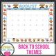 EDITABLE Owl Theme Calendar - Teacher/Parent Monthly Newsletter