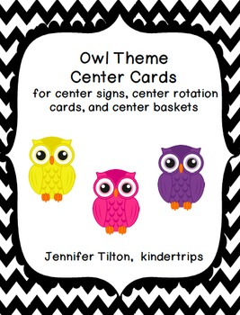Owl Theme Center Signs