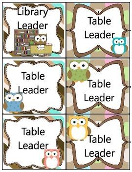 Owl Theme Class Jobs