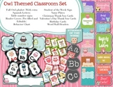 Owl Theme Class Set- Cute and Colorful Owls!