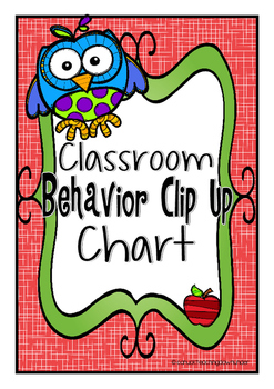 Owl Theme Classroom Behavior Clip Up Chart