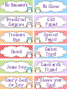Owl Theme Classroom Coupons